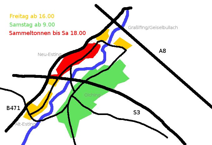 Stadtplan-Olching